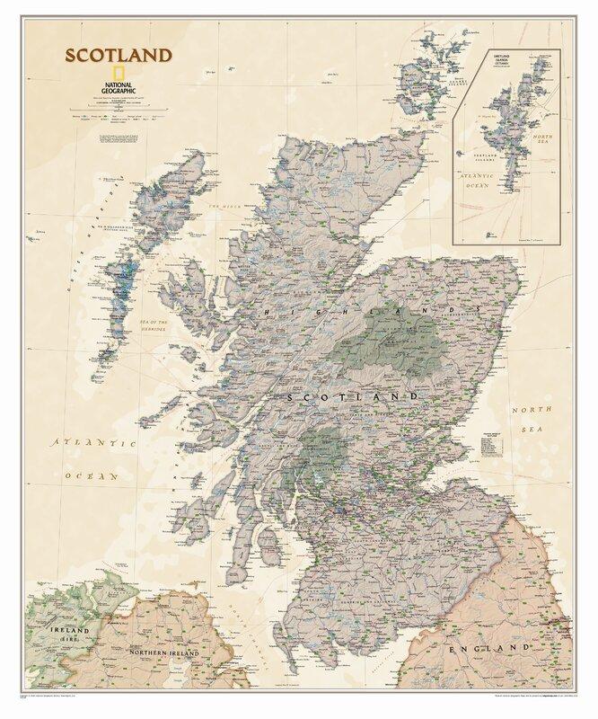 National geographic maps scotland executive wall map reviews scotland executive wall map gumiabroncs Choice Image