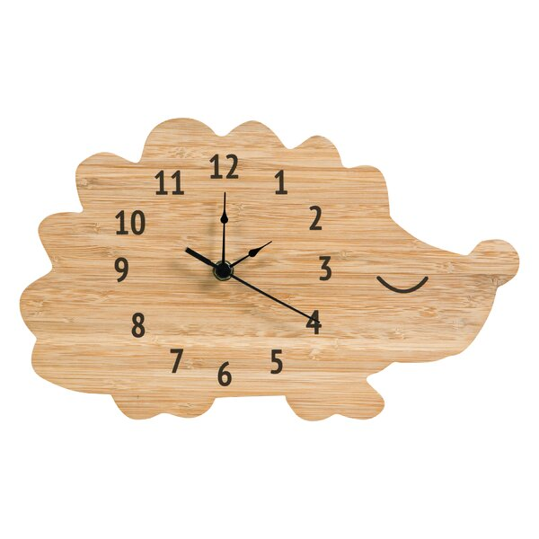 Bamboo Hedgehog Wall Clock by Trend Lab