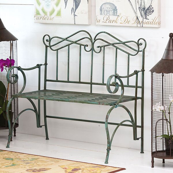 Verdi Antique Metal Garden Bench by Evergreen Enterprises, Inc