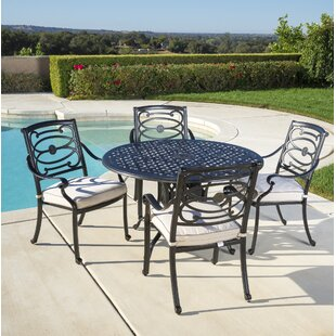 Croydon 5 Piece Sunbrella Dining Set with Cushions By Darby Home Co