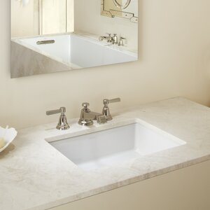 Verticyl Ceramic Rectangular Undermount Bathroom Sink with Overflow