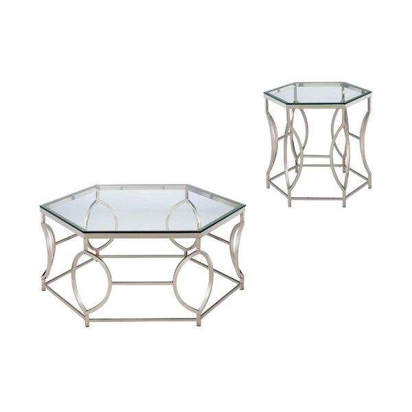 Frostia 2 Piece Coffee Table Set by Orren Ellis Orren Ellis