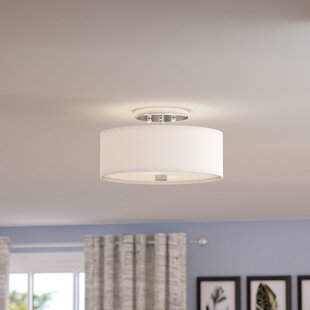 Pull down ceiling light wayfair bennet 2 light semi flush mount mozeypictures Image collections