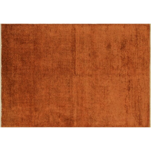One-of-a-Kind Overdyed Coleton Hand-Knotted Rust Area Rug by Noori Rug