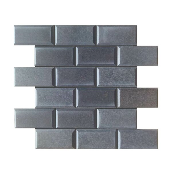 Pillow Edge Polished 2 x 4 Natural Stone Mosaic Tile in Black by QDI Surfaces