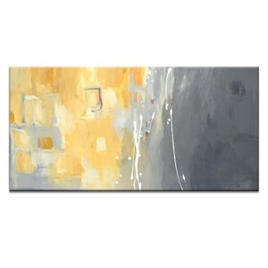 50 Shades of Gray and Yellow by Julie Ahmad Painting Print on Wrapped Canvas by Artist Lane