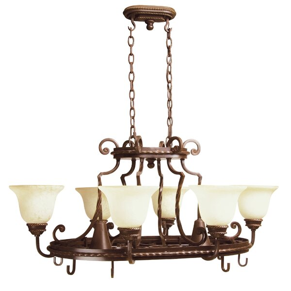 Kellie 8 Light Hanging Pot Rack by Fleur De Lis Living