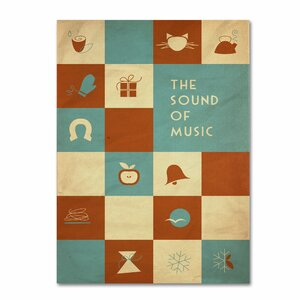 'The Sound of Music' by Megan Romo Graphic Art on Canvas by Trademark Fine Art
