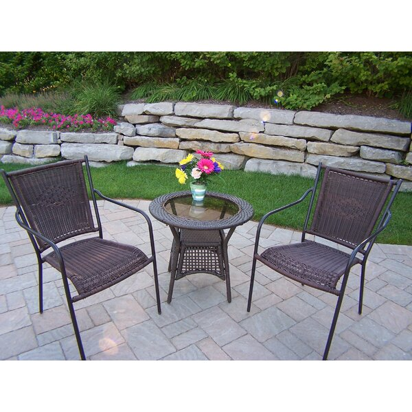 Kingsmill 3 Piece Conversation Set by Rosecliff Heights Rosecliff Heights