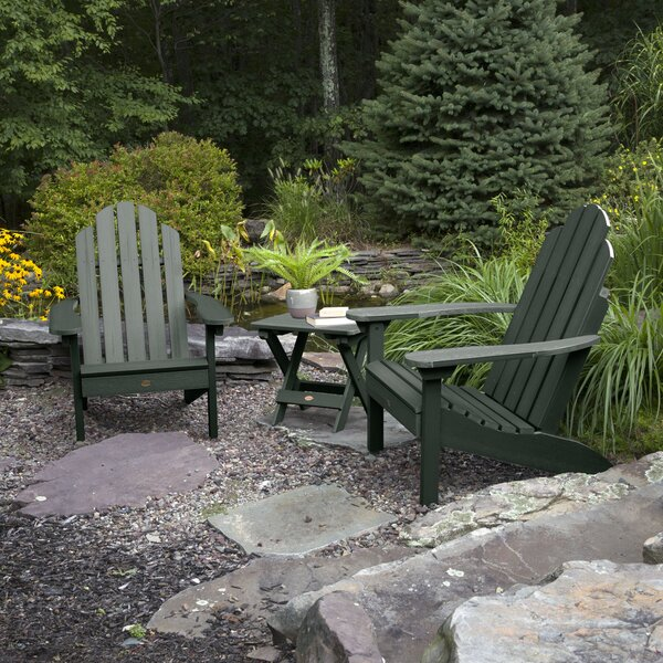 Highpoint Plastic Adirondack Chair with Table by Alcott Hill Alcott Hill