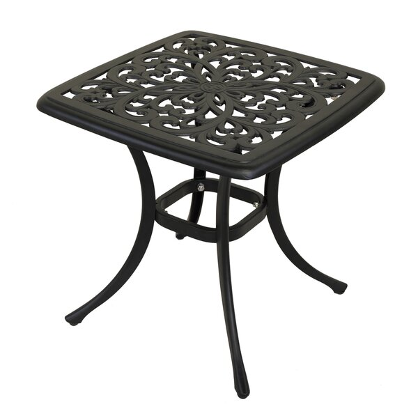 Thornhill Aluminum Side Table by Fleur De Lis Living