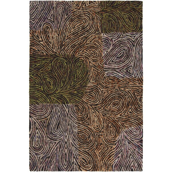Katherin Abstract Area Rug by Bloomsbury Market