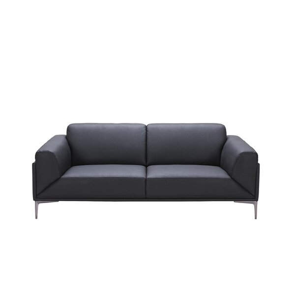 Brisbin Leather Sofa by Wade Logan