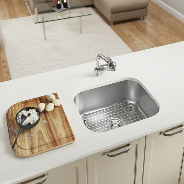 Stainless Steel 23 x 18 Undermount Kitchen Sink by MR Direct