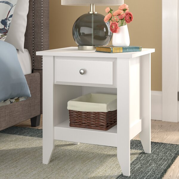 Olney 1 Drawer Nightstand by Three Posts