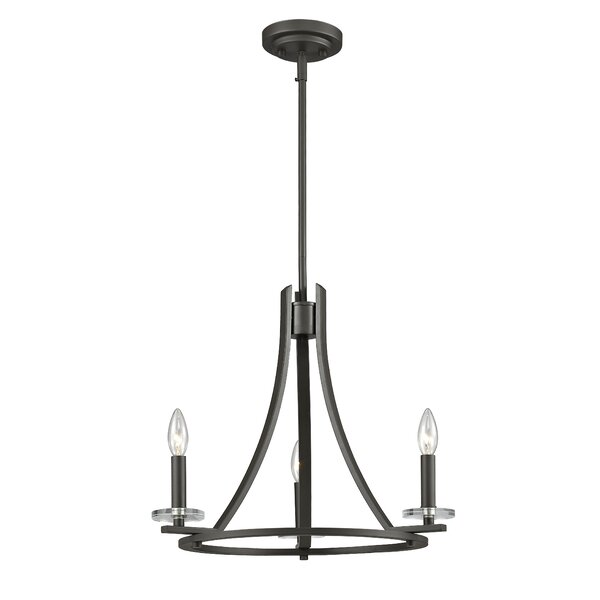 Favela 3-Light Candle Style Wagon Wheel Chandelier by Z-Lite Z-Lite