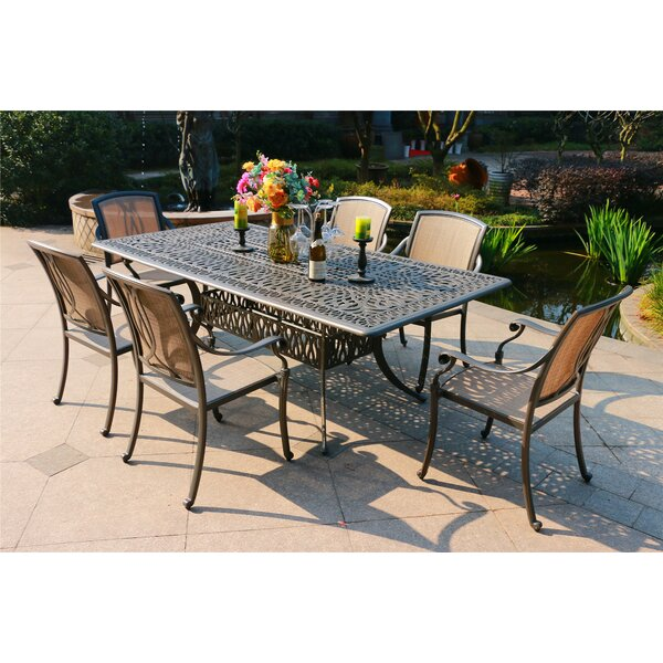 Baranowski Aluminum 7 Piece Dining Set by Canora Grey