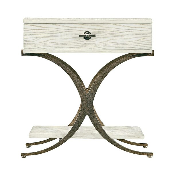 Resort Windward Dune End Table with Storage by Stanley Furniture