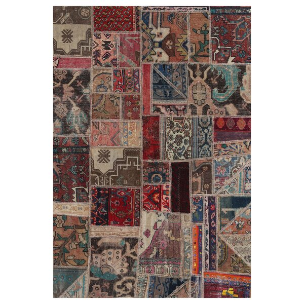 One-of-a-Kind Lariat Hand-Knotted Wool Brown Area Rug by Bloomsbury Market