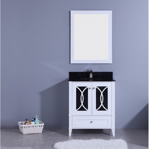Dule 30 Single Bathroom Vanity Set with Mirror by Mercer41