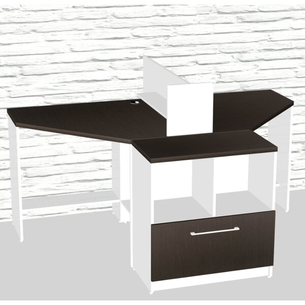 Triangular Corner 4 Piece L-Shaped Desk Office Suite by TeamCENTERoffice
