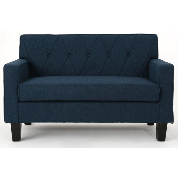 A Huge List Of Peiffer Button Stitch Loveseat by Ebern Designs by Ebern Designs