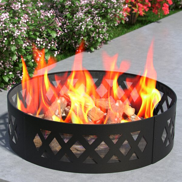 Crossweave Steel Wood Burning Fire Ring by Regal Flame