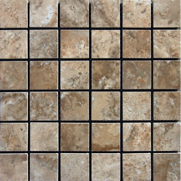 Navona 2 x 2 Porcelain Mosaic Tile in Glazed Brown by MSI