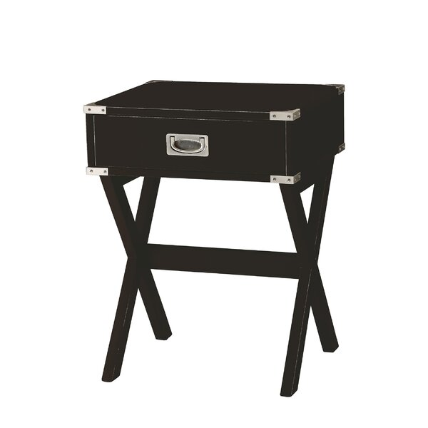 Hummer 1-Drawer End Table with Storage by Wrought Studio