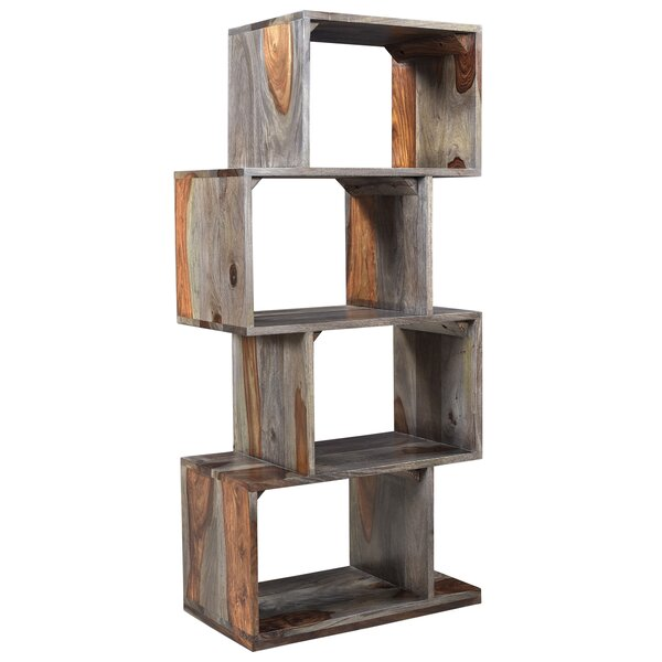Solid Sheesham Wood Bookcase by Union Rustic