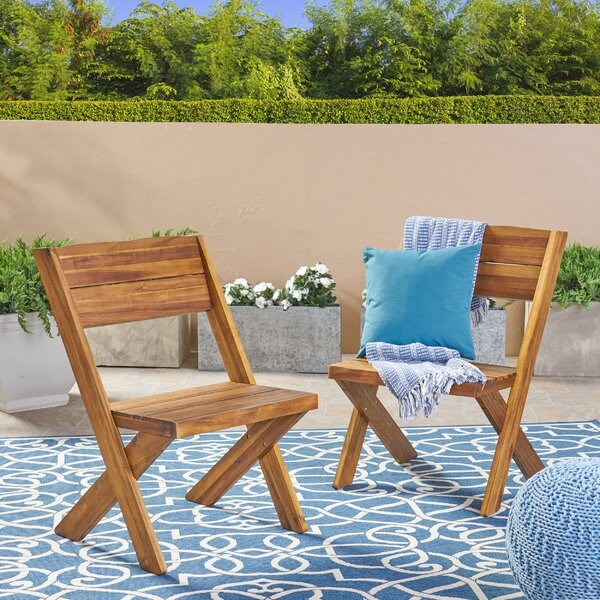 Heatherfield Patio Dining Chair (Set of 2) by Bay Isle Home