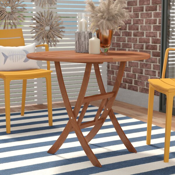 Moana Folding Wooden Bistro Table by Beachcrest Home