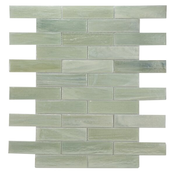 Laguna Glass Mosaic Tile in Light Green by Byzantin Mosaic