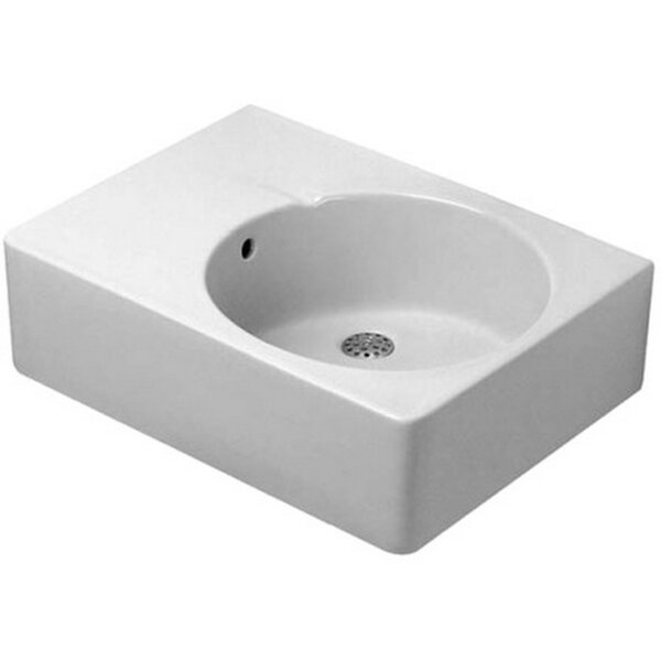 Scola Ceramic 25 Wall Mount Bathroom Sink with Overflow by Duravit