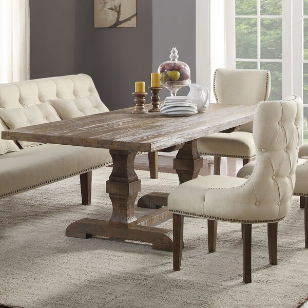 Loiselle Solid Wood Dining Table by Gracie Oaks