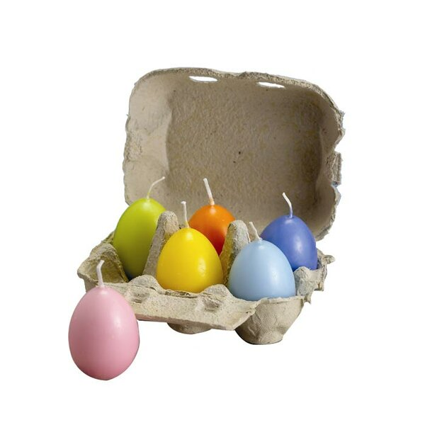 Pastel Egg Candle (Set of 12) by Biedermann and Sons