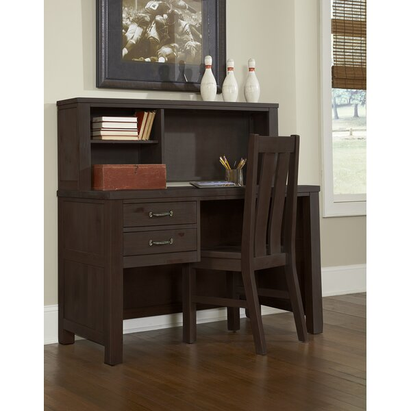 Allan 23.75 W Writing Desk with Hutch and Chair Set by Viv + Rae