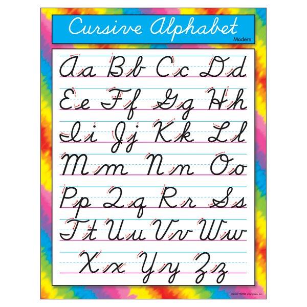 Cursive Alphabet Modern Chart by Trend Enterprises