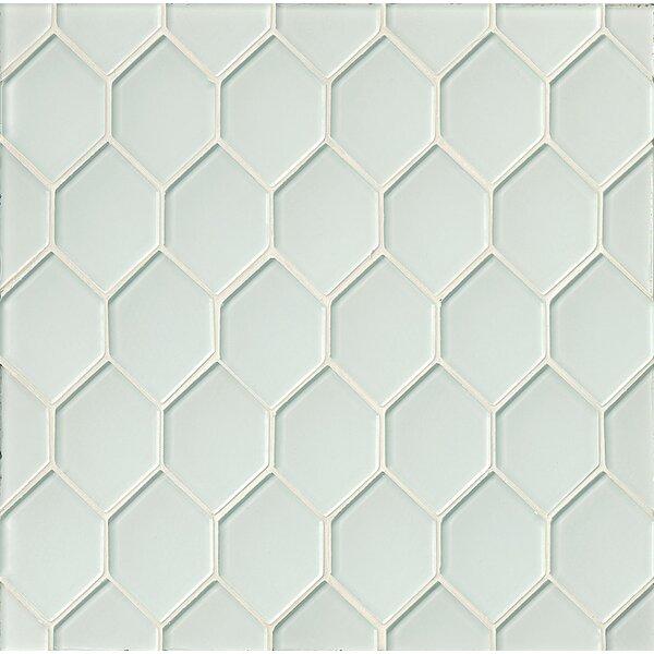 La Palma Glass Mosaic Tile in White by Grayson Martin