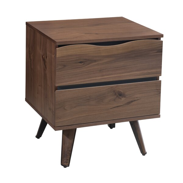 Kinyon 2 Drawer Nightstand by Union Rustic