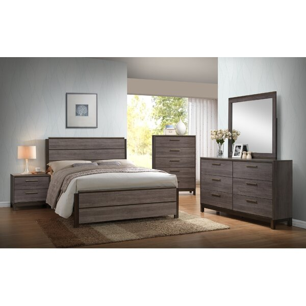 Mandy Wood Panel 5 Piece Bedroom Set by Gracie Oaks
