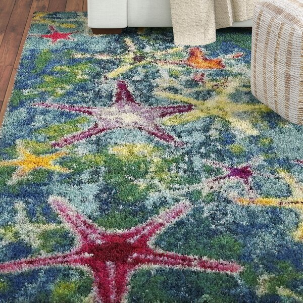 Ethel  Navy Blue Area Rug by Bayou Breeze