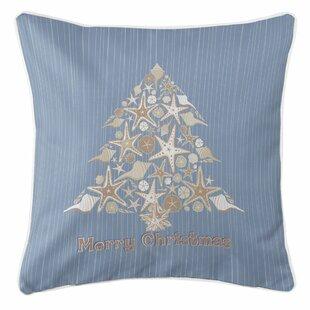 5f4e031ce29 Holiday Seashell Christmas Tree Throw Pillow
