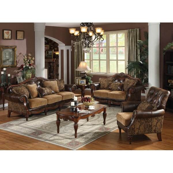 Mccauley 3 Piece Configurable Living Room Set by Astoria Grand