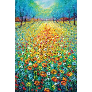 'Wild Flowers' Painting Print on Canvas by East Urban Home