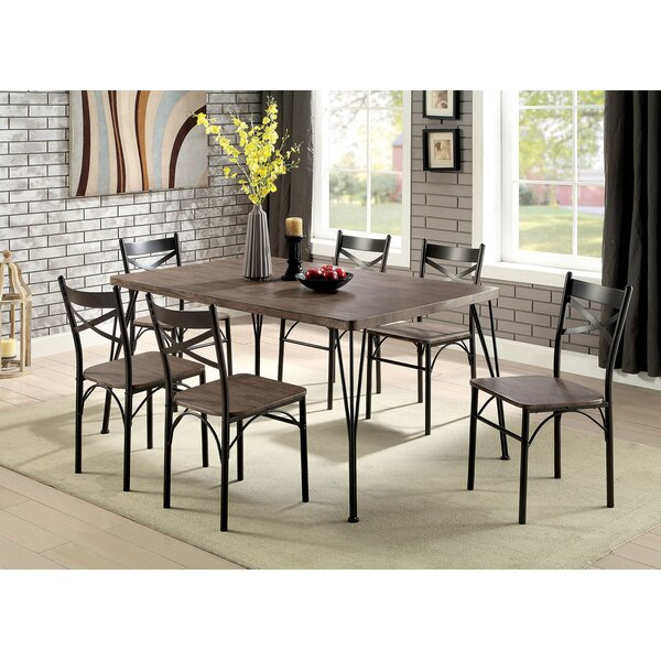 Marilynn 7 Piece Solid Wood Dining Set by Williston Forge