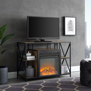 Best Choices Neff TV Stand for TVs up to 40 with Fireplace ByUnion Rustic