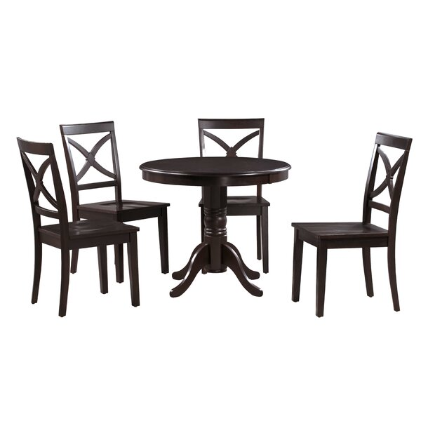 Best #1 Cedarville 5 Piece Solid Wood Dining Set By Alcott Hill No Copoun