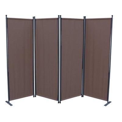 4-tlg Raumteiler 170 cm x 220 cm | Wohnzimmer > Regale > Raumteiler | Blau - Grau - Grün - Taupe - Terrakotta | Grasekamp