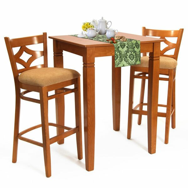Mignone 3 Piece Pub Table Set by Bloomsbury Market